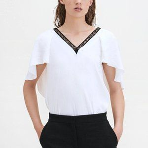 Maje Lysandre Amour Top Blouse 1 Small